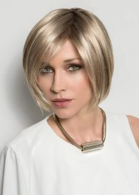 Just Hair Piece in Champagne Mix | Made of Ellen Wille's premium Futura synthetic fiber, the Just is heat resistant up to 300 degrees F.