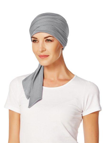 Christine MANTRA SCARF LONG Grey Melange   Elly-K.com.au