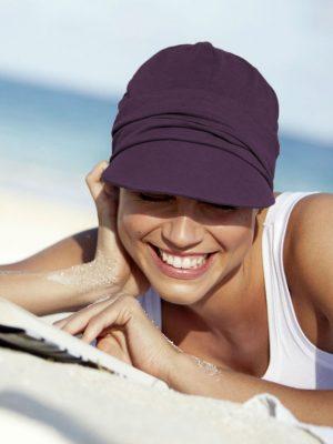 Christine Headwear | SOLEIL CAP Grape Purple | Elly-K.com.au