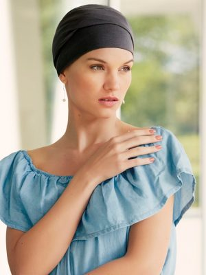 Christine ZOYA V TURBAN Dusty Black | Elly-K.com.au