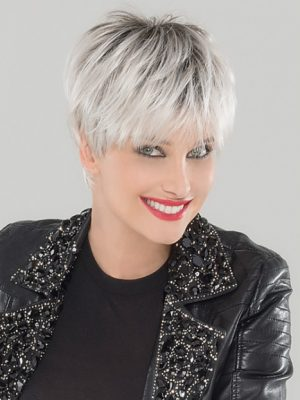 SWING by Ellen Wille in Silver Blonde Rooted | An edgy, short style that can be worn with volume or sleek and chic