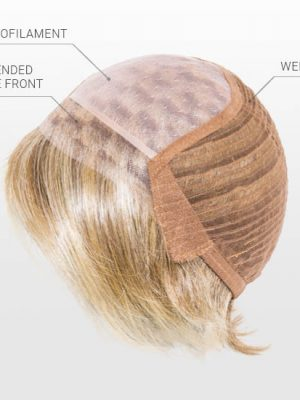 Monofilament Top | Extended Lace Front | Wefted Cap