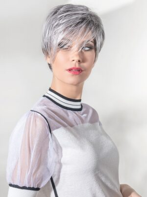The First wig by Ellen Wille Hair Society Collection is a short, asymmetrical cut