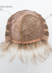 Hand-knotted monofilament part to create the appearance of natural hair growth