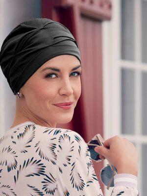 Christine Headwear BECCA TURBAN Black | Elly-K.com.au