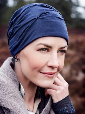 Christine Headwear BECCA TURBAN Dark Blue | Elly-K.com.au
