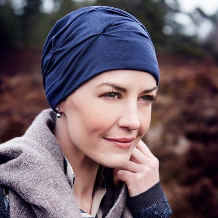 Christine Headwear BECCA TURBAN Dark Blue   Elly-K.com.au