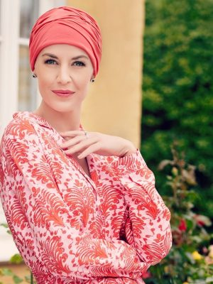 Christine Headwear BECCA TURBAN - Raspberry Red | Elly-K.com.au