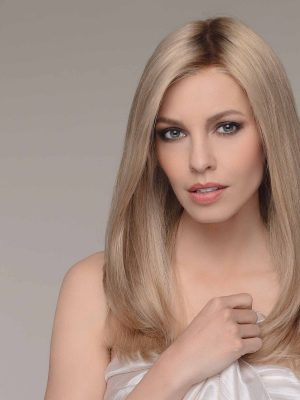 EMOTION in SANDY BLONDE ROOTED   100% Remy Human Hair Wig