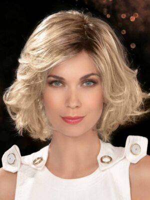 CHARISMA by ELLEN WILLE in LIGHT HONEY ROOTED | Medium Honey Blonde, Platinum Blonde, and Light Golden Blonde blend with Dark Roots