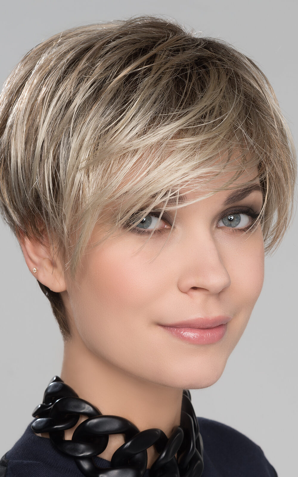 FENJA SMALL by Ellen Wille in SAND MULTI ROOTED | | Lightest Brown and Medium Ash Blonde Blend with Light Brown Roots