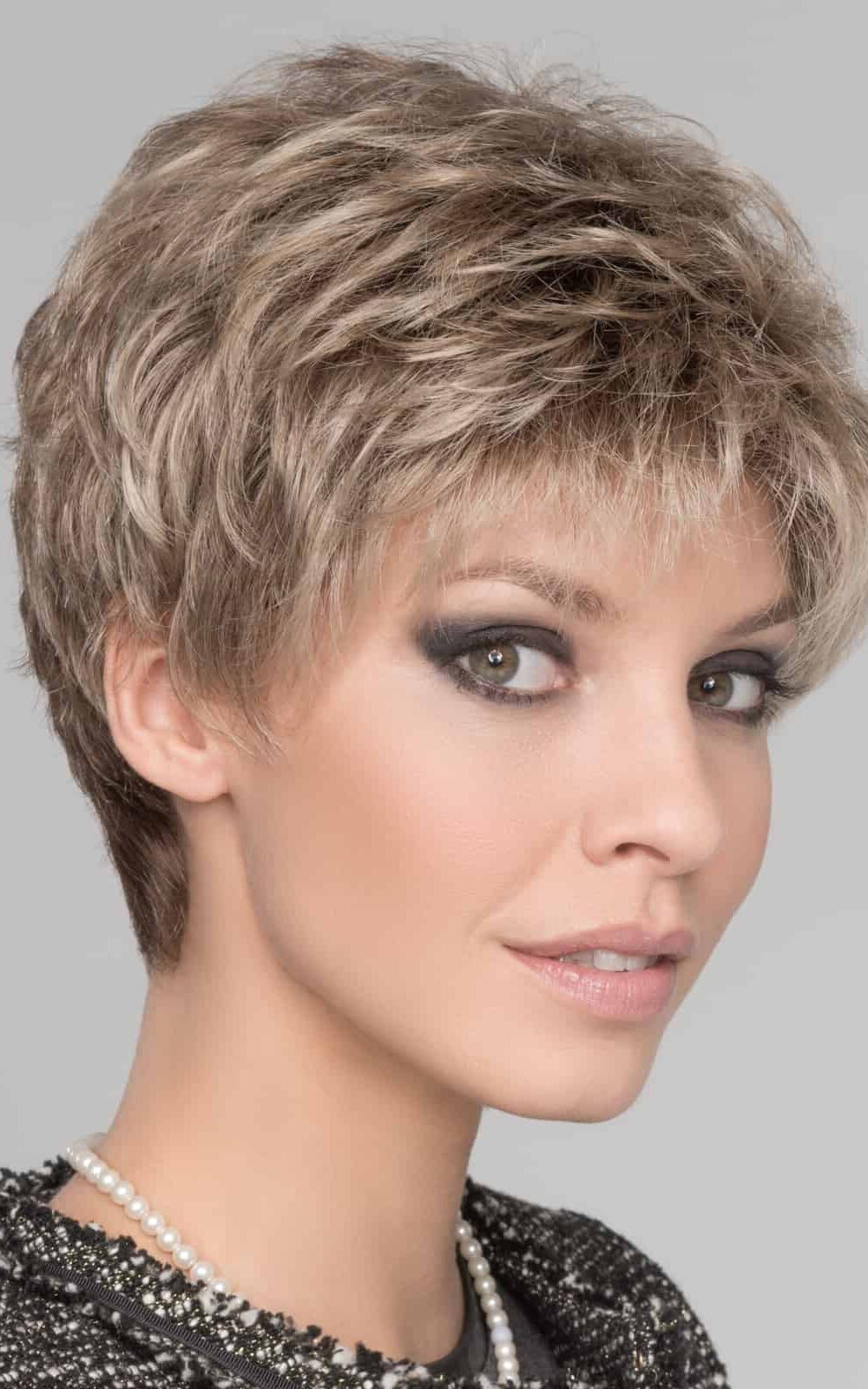 Foxy by Ellen Wille | SAND MULTI ROOTED | Lightest Brown and Medium Ash Blonde Blend with Light Brown Roots