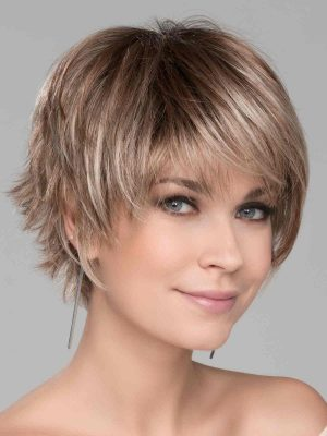 Sky by Ellen Wille | Dark Sand Rooted | A short asymmetrical style with flared ends in the back | Elly-K.com.au