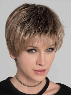 STOP HI TECH by Ellen Wille | Dark Sand Rooted Weighing less than two ounces, Stop Hi Tec by Ellen Wille Wigs is a light, carefree style boasting ultimate comfort and versatility.