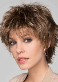 Click Wig by Ellen Wille   Tobacco Mix  Edgy layers can be styled modern or classic   Elly-K.com.au