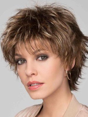 Click Wig by Ellen Wille | Tobacco Mix| Edgy layers can be styled modern or classic | Elly-K.com.au