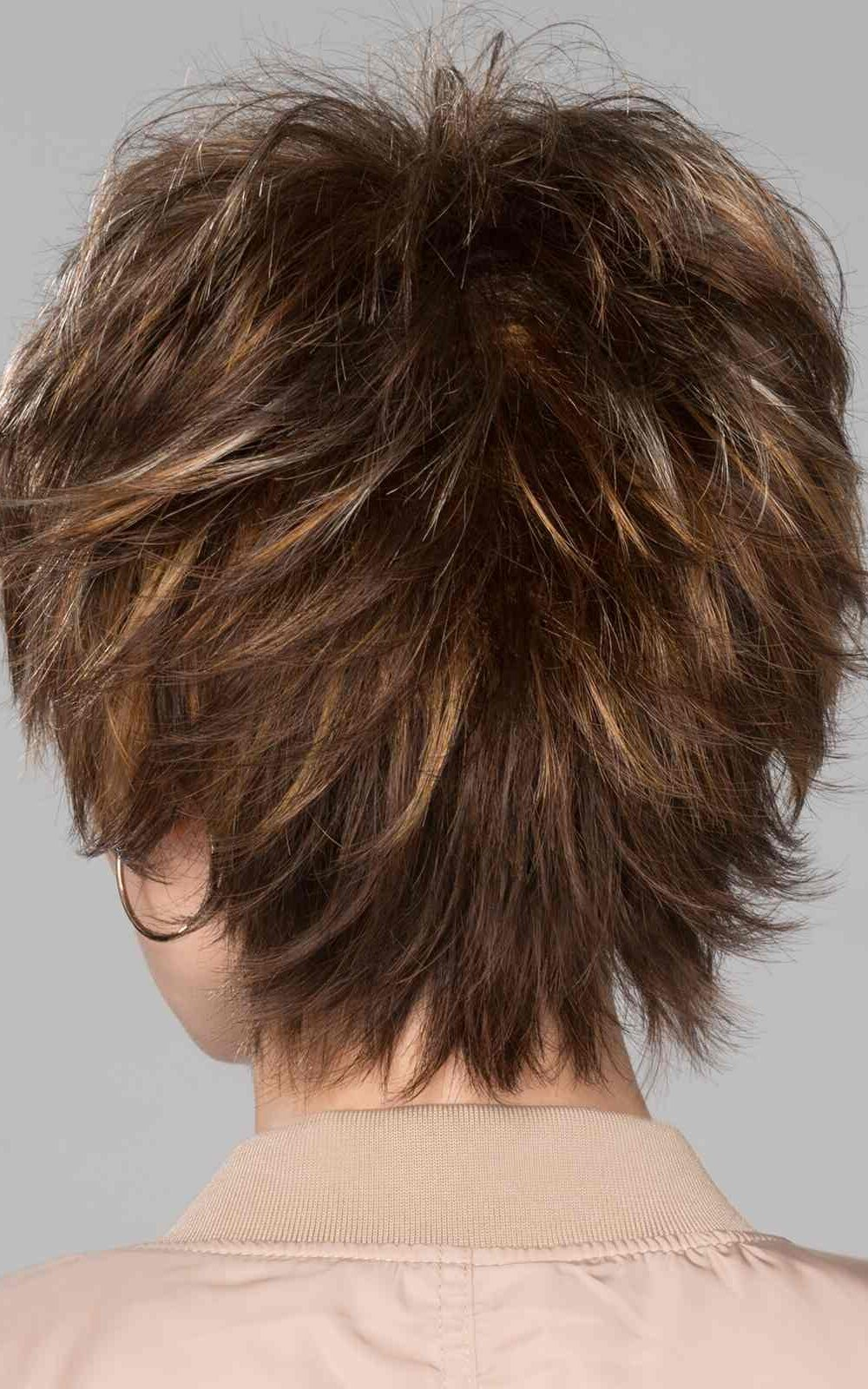 Click Wig by Ellen Wille   Tapered neckline layers blend the choppy crown length   Black   Elly-K.com.au