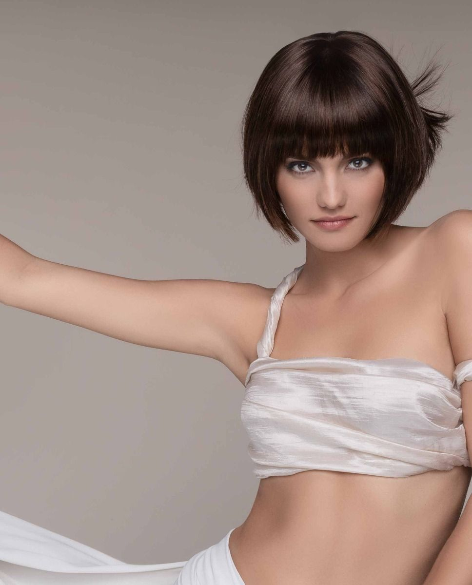 WISH BY ELLEN WILLE | Trendy bob style. Hair perfectly frames the face, falling to just chin length
