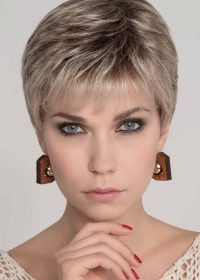 MIA MONO by ELLEN WILLE in SAND MULTI ROOTED | Lightest Brown and Medium Ash Blonde Blend with Light Brown Roots