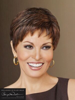 PERU BY RAQUEL WELCH | Wispy fring, textured layering on top with length at the crown and layered ends.
