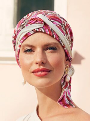 B.B. BEATRICE TURBAN with Ribbons Indian Summer 1419-0709