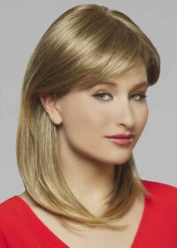 Athena   The pre-styled synthetic strands are smooth and natural looking.