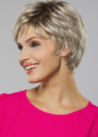 Iris   A lace front gives you the option to style the hair back and away from the face with a nearly invisible hairline.