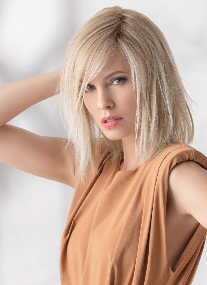 The Eclat can be  straightened using heated styling products.
