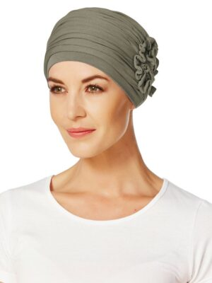 LOTUS TURBAN Brown Green 1003-0338