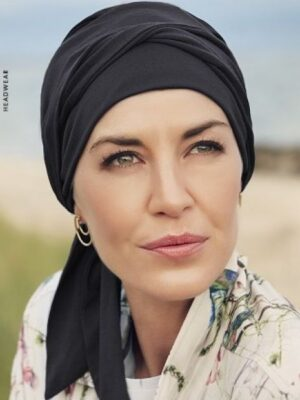 B.B. BEATRICE TURBAN with Ribbons Black 1291-0590