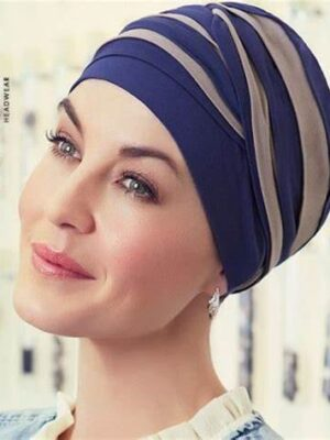 SHANTI TURBAN Night Blue/Sand 1461-0712