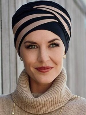 SHANTI TURBAN Mixed Colours Black/Brown 1461-0395