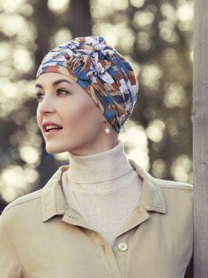 Christine Headwear | LOTUS TURBAN Autumn Cherries 1008-0666