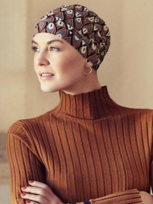 Christine Headwear | YOGA TURBAN Printed - Peacock Feathers 2000-0619