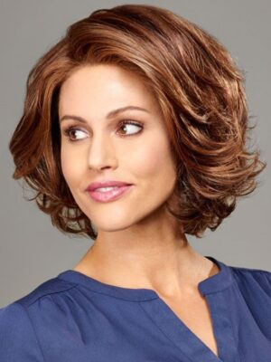 Peyton | The lace front gives the illusion of hair growing from the scalp and allows the hair to be pushed back freely.
