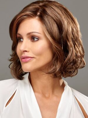 Hayden wigs feature a Mono Top with Lace Front